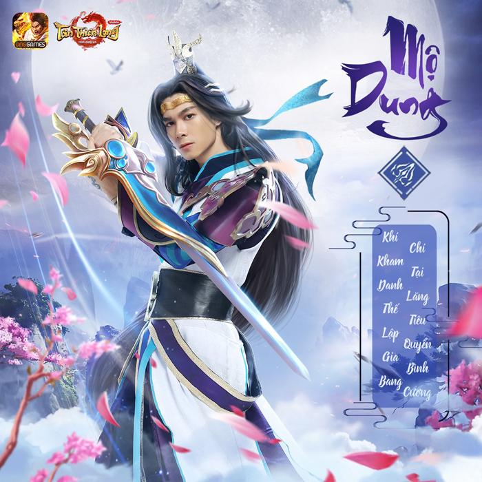 Diễn viên Anh Tú cosplay phái Mộ Dung trong Tân Thiên Long Mobile VNG 1