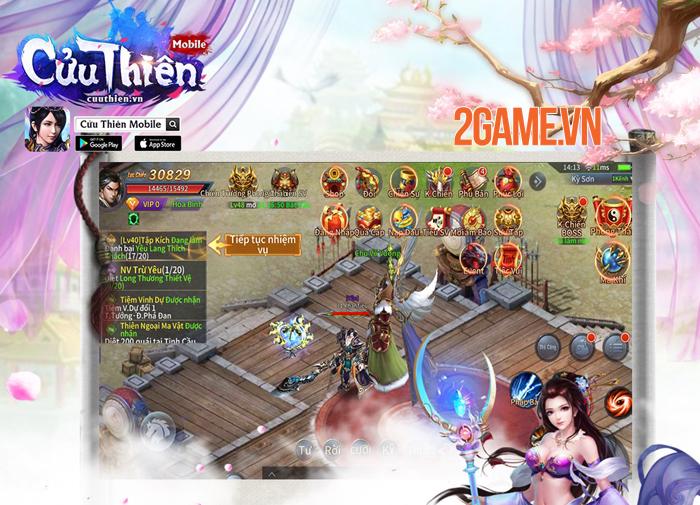 Game nhập vai Cửu Thiên Mobile ra mắt trang chủ 4