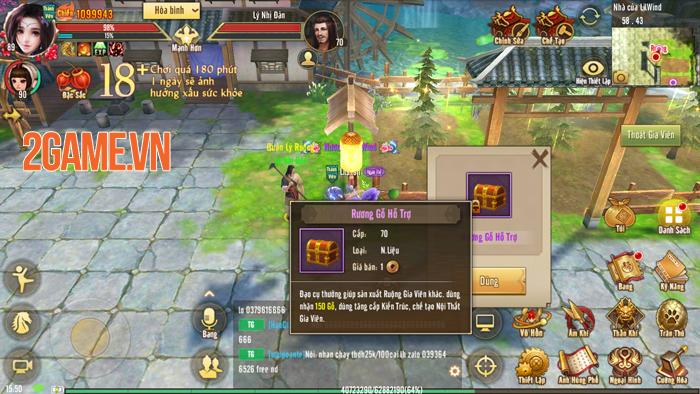 Tân Thiên Long Mobile sắp cho người chơi làm nông 3