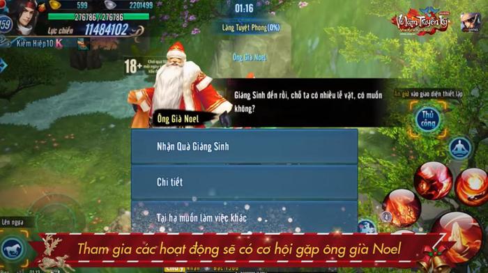 Game thủ Võ Lâm Truyền Kỳ Mobile truy tìm Ông Già Noel đòi quà Giáng sinh 1