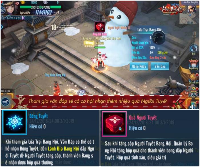 Game thủ Võ Lâm Truyền Kỳ Mobile truy tìm Ông Già Noel đòi quà Giáng sinh 2