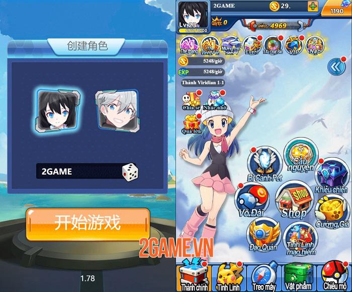Game Pokemon Truyền Kỳ H5 có đồ hoạ tươi mới cập bến Việt Nam 0