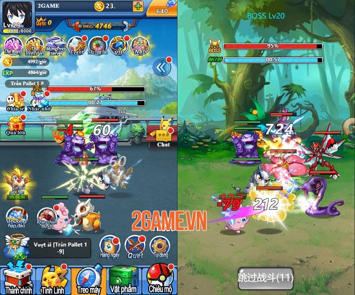 Game Pokemon Truyền Kỳ H5 có đồ hoạ tươi mới cập bến Việt Nam 2