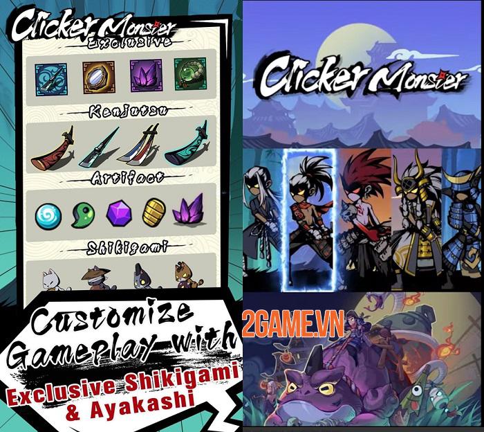 Clicker Monster - Game idle khai thác về truyền thuyết Âm Dương Sư 3