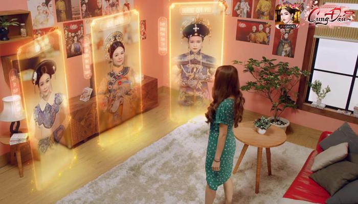 Hotgirl Sam làm Hoàng Hậu trong game Cung Đấu Mobile 1