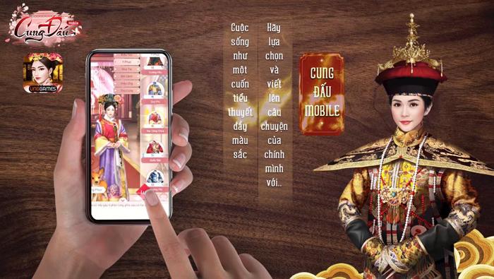 Hotgirl Sam làm Hoàng Hậu trong game Cung Đấu Mobile 3