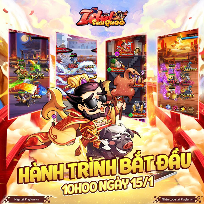 Tặng 666 giftcode game Idol Tam Quốc 0