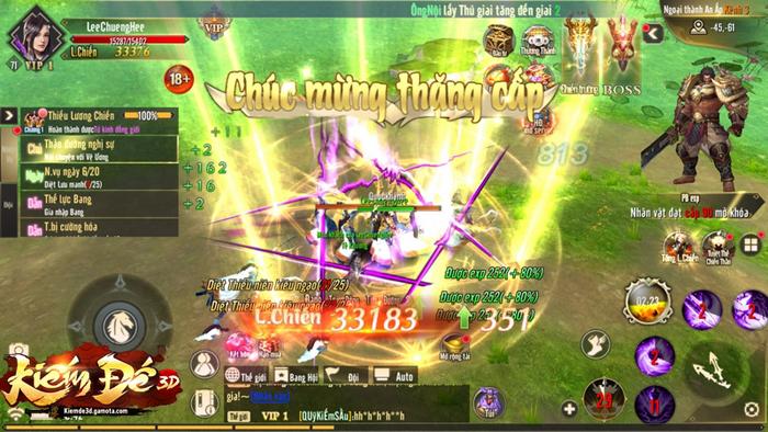 Tặng 777 giftcode game Kiếm Đế 3D Gamota 3