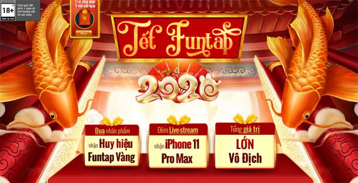 NPH Funtap tổ chức đại tiệc Tết 2020 cho tất cả game thủ 0