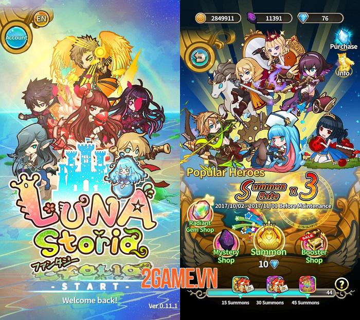 Luna Storia - Game đánh theo lượt đơn giản với đồ họa chibi đáng yêu 0