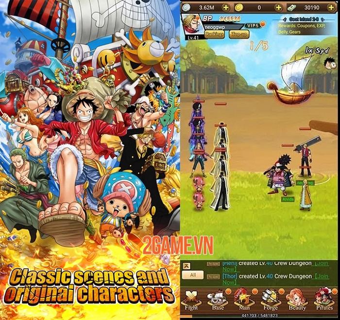 Sailing Adventure - Game One Piece màn hình dọc có đồ hoạ anime chất lượng cao 0