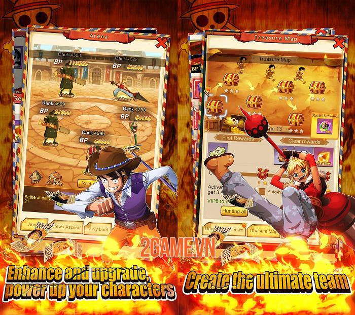 Sailing Adventure - Game One Piece màn hình dọc có đồ hoạ anime chất lượng cao 2