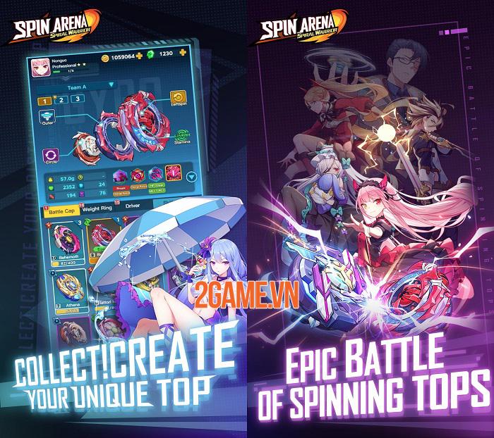 Spin Arena mô phỏng những trận chiến con quay thú vị 1