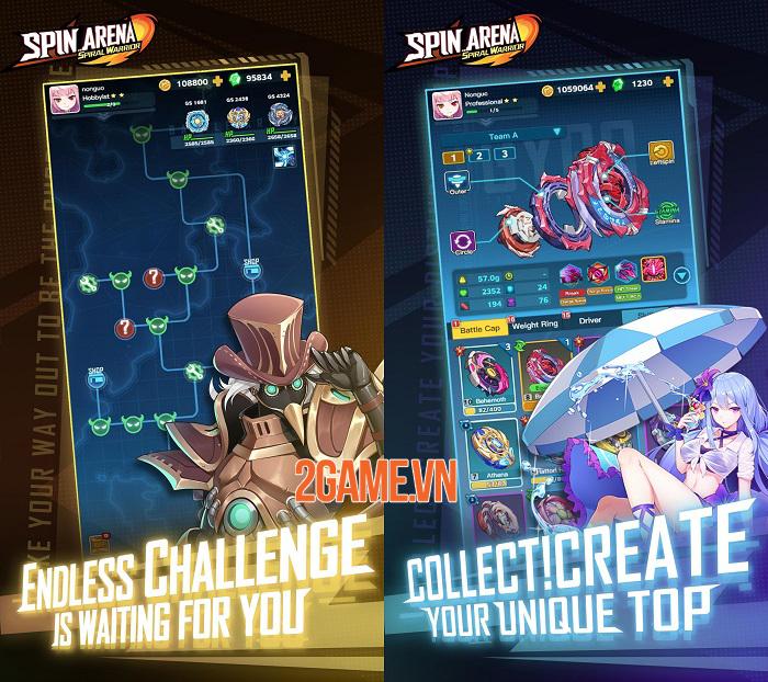 Spin Arena mô phỏng những trận chiến con quay thú vị 3