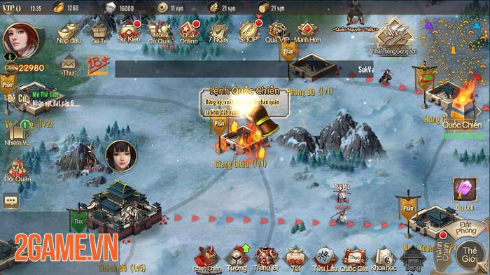 Vương Triều Tranh Bá sở hữu lối chơi SLG cực kỳ hack não 1