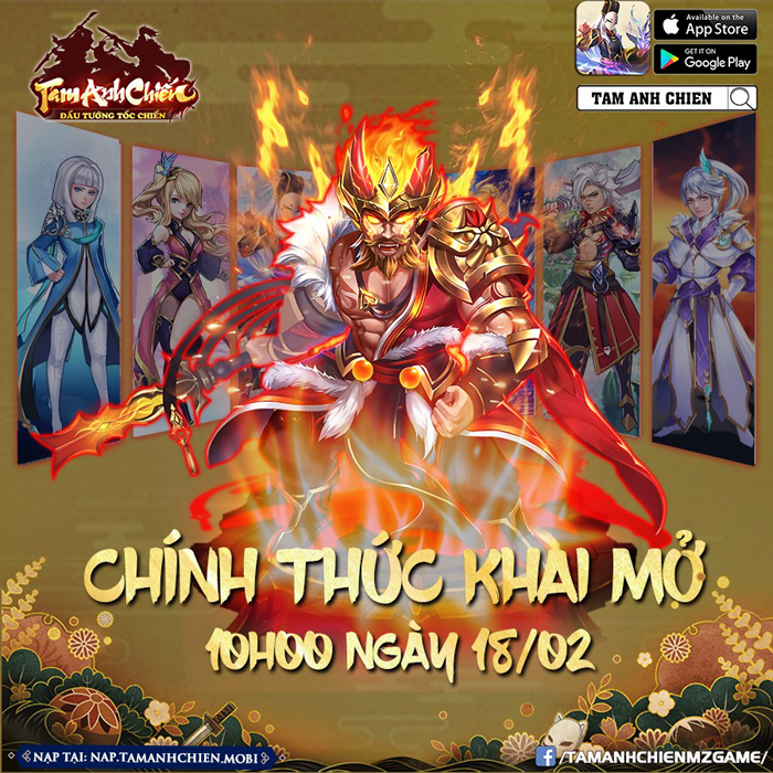 Tặng 888 giftcode game Tam Anh Chiến Mobile 1