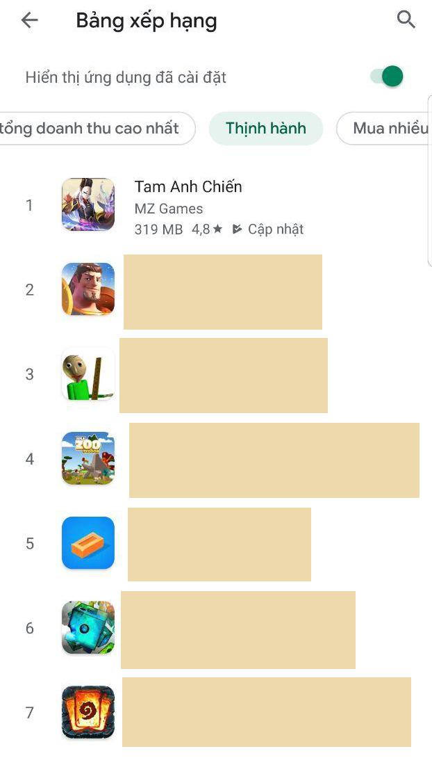 Game Tam Anh Chiến Mobile thu hút hàng loạt tay chơi đại gia 0