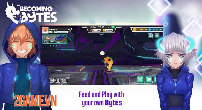 Becoming Bytes có lối chơi giống như những máy nuôi thú ảo 2