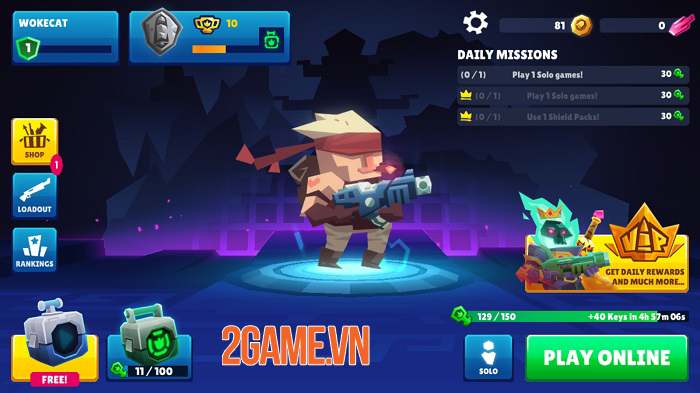 Bullet League - Game 2D Battle Royale tiết tấu nhanh với cơ chế chơi cực chất 1