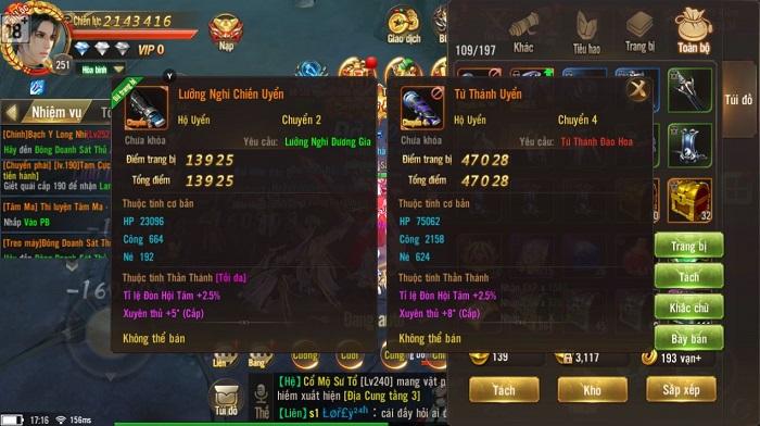 Giang Hồ Chi Mộng cho phép game thủ giao dịch tự do đồ không khóa 0