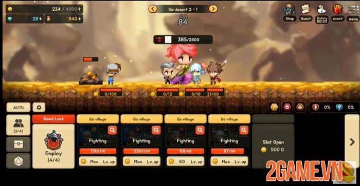 Salary Warrior - Game nhập vai đi cảnh đồ họa cổ điển có lối chơi đơn giản 3