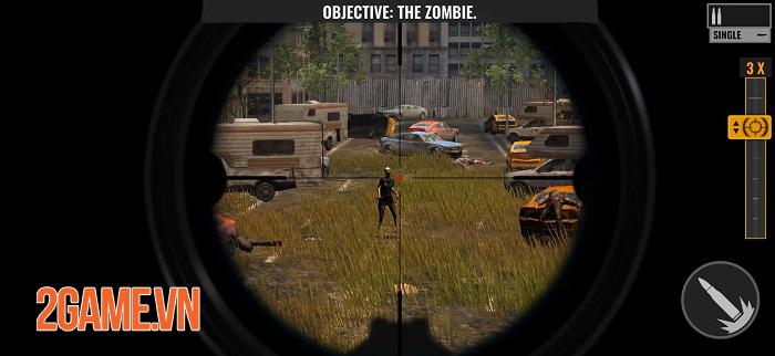 Sniper Zombies VNG sở hữu đồ họa chân thực với những hiệu ứng ấn tượng 2