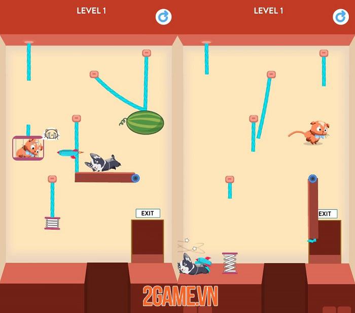 Rescue Kitten: Rope Puzzle - Game giải đố thú vị của một team dev Việt 1