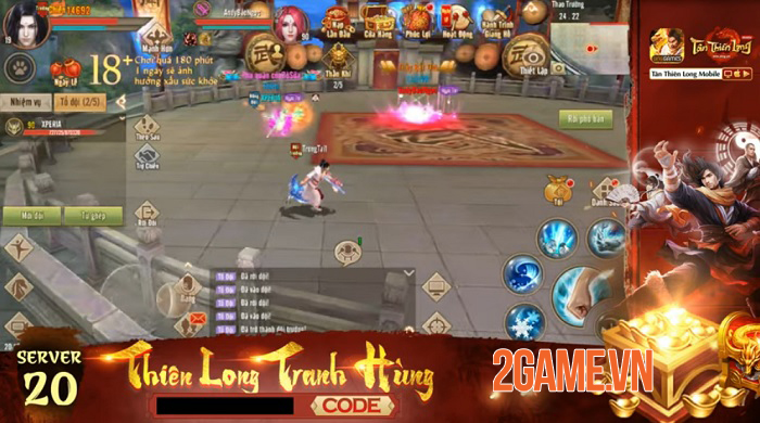 Thiên Long Tranh Hùng - Sân chơi PK cho game thủ Tân Thiên Long Mobile VNG 0