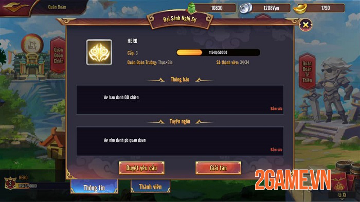 Bang hội trong Thiên Long Tam Quốc Mobile muôn hình vạn dạng không kém game MMORPG 1
