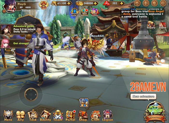 Wind Knight - Game hành động đồ họa 3D sống động và hiệu ứng hoa mỹ 0