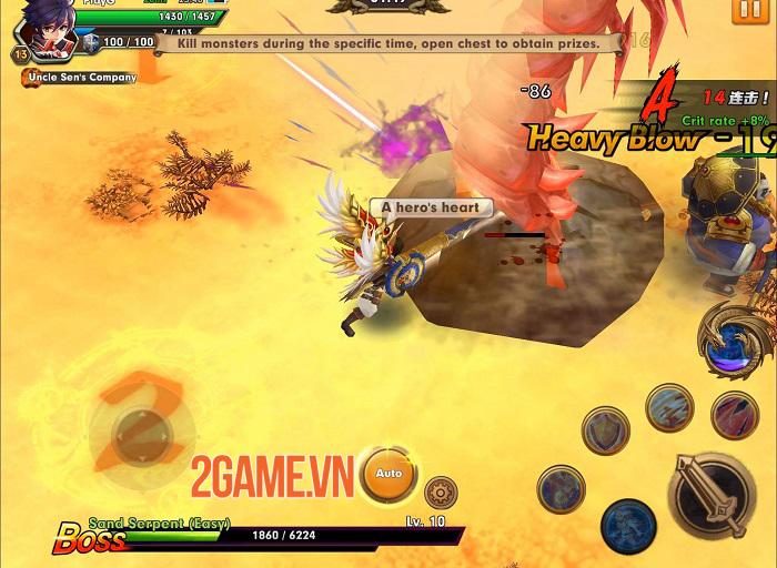 Wind Knight - Game hành động đồ họa 3D sống động và hiệu ứng hoa mỹ 4