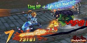 Tính năng nối chiêu độc đáo của game Tam Anh Chiến khiến người chơi xoắn não