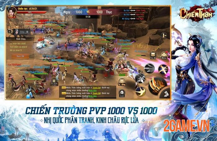 Chất chiến đấu nhanh - mạnh của Chiến Thần 3D Mobile khiến người chơi cảm thấy đã tay! 2