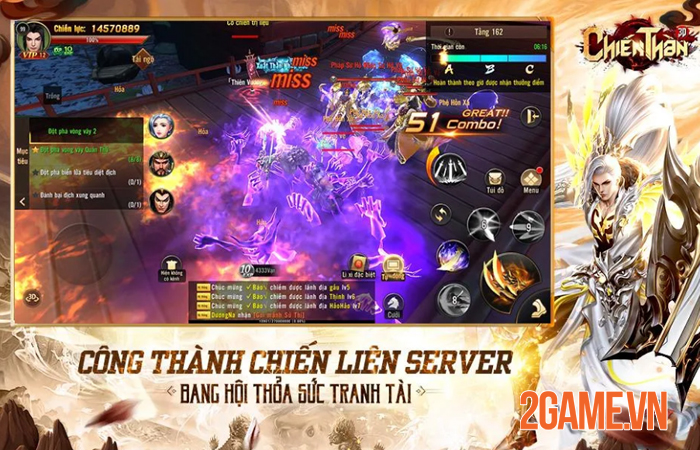 Chất chiến đấu nhanh - mạnh của Chiến Thần 3D Mobile khiến người chơi cảm thấy đã tay! 3