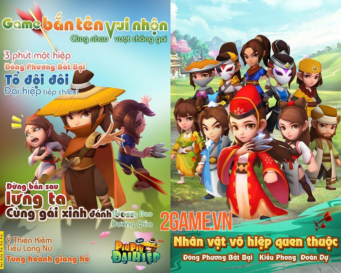Đại Hiệp Piu Piu Piu - Game võ hiệp bắn tên mới mẻ cập bến Việt Nam 0