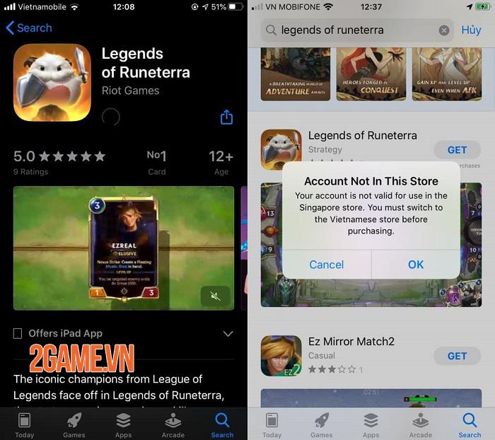 Riot Games bất ngờ mở tải Huyền Thoại Runeterra cho khu vực Singapore 0