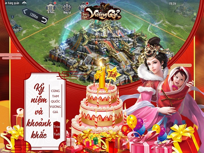 Tam Quốc Vương Giả tung sự kiện Viết lời tri ân nhận quà cực phẩm mừng sinh nhật 0