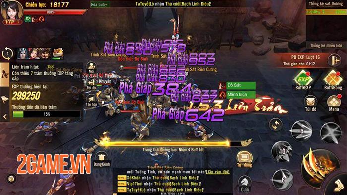 Thỏa sức phối hợp binh khí ra đòn combo sướng tay trong Chiến Thần 3D Funtap 4