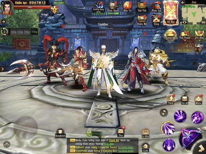 Tham gia sân chơi MMORPG đẳng cấp Chiến Thần 3D Mobile ngay hôm nay! 3