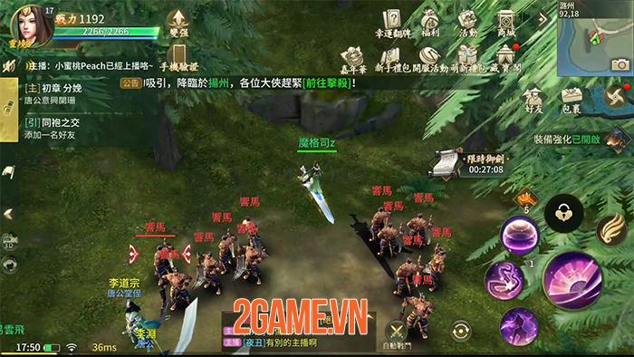 Ngự Kiếm Mobile khi ra mắt tại Việt Nam sẽ có 8 môn phái 3