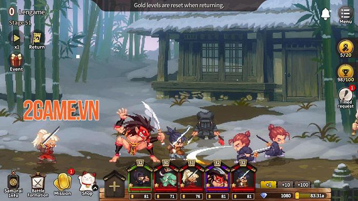 Tiny Samurai Shodown - Game pixle Idel RPG mang phong cách thập niên 90 1