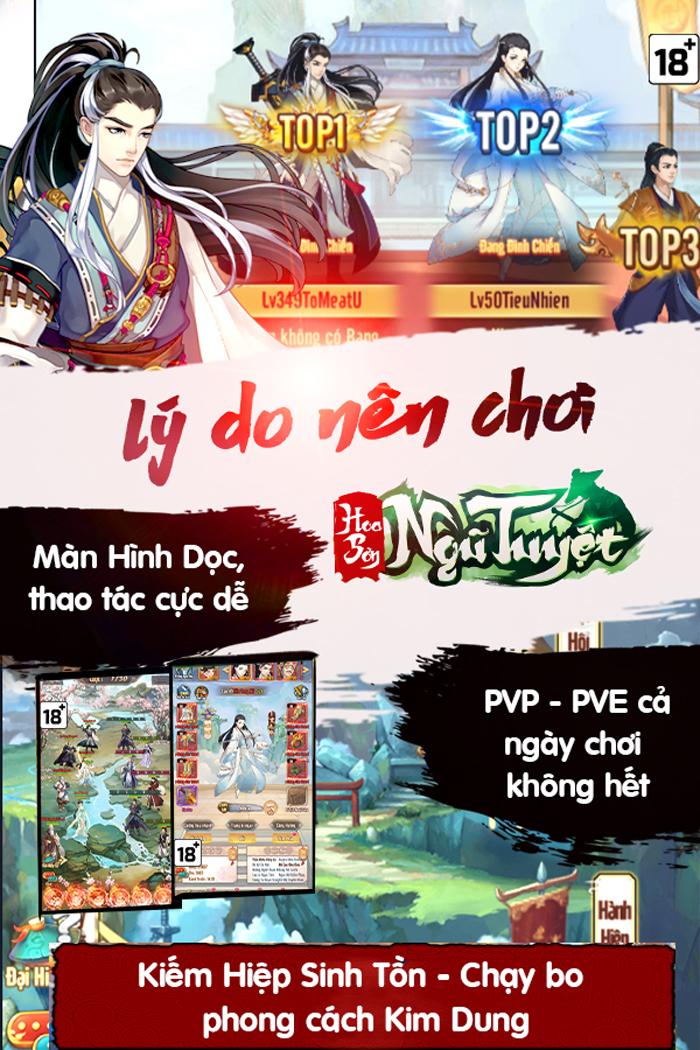 Game kiếm hiệp đấu trí Hoa Sơn Ngũ Tuyệt Mobile về Việt Nam 1