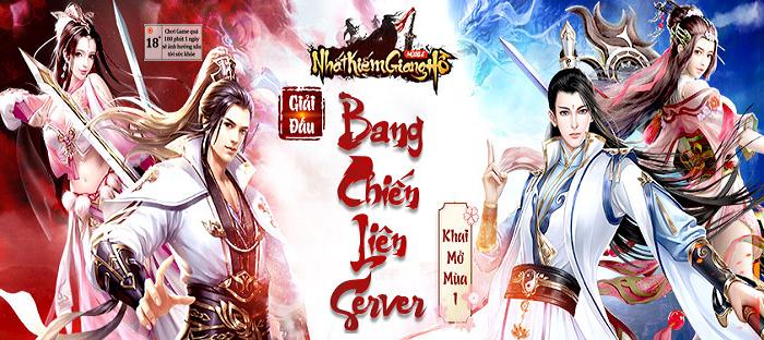 Nhất Kiếm Giang Hồ khai mở giải đấu Bang Chiến Liên Server mùa 1 1