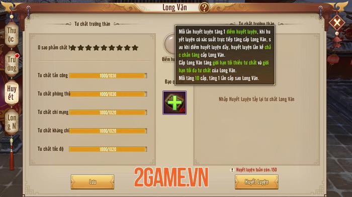 Người chơi Tân Thiên Long Mobile VNG tăng lực chiến vù vù nhờ tính năng mới Long Văn 1