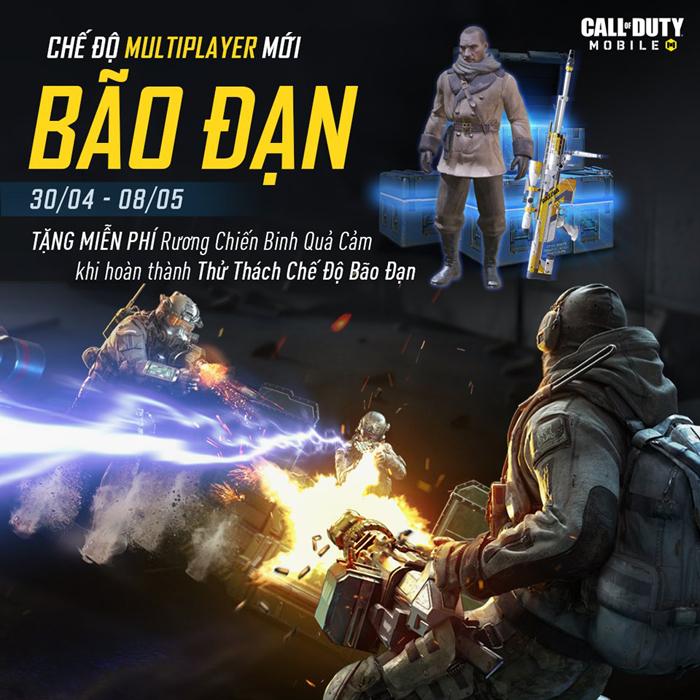 Call of Duty: Mobile VN tung nhiều vũ khí hủy diệt hạng nặng trong chế độ Bão Đạn 0