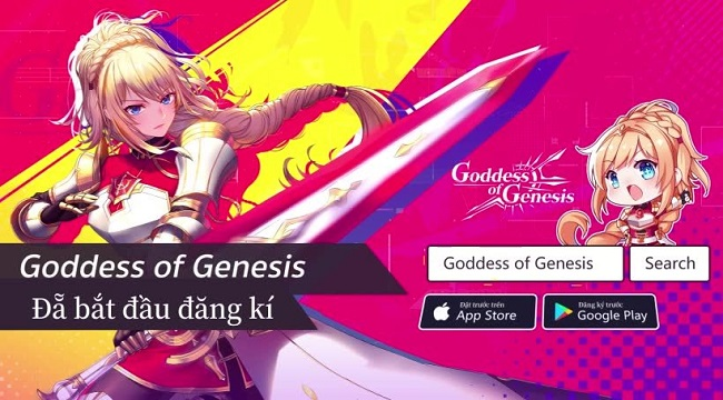 Game anime 3D độc đáo và bắt mắt Goddess of Genesis mở thử nghiệm tiếng Việt