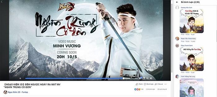 Minh Vương M4U công bố MV ca nhạc Nghìn trùng cô đơn dành tặng Ngạo Kiếm 3D 2