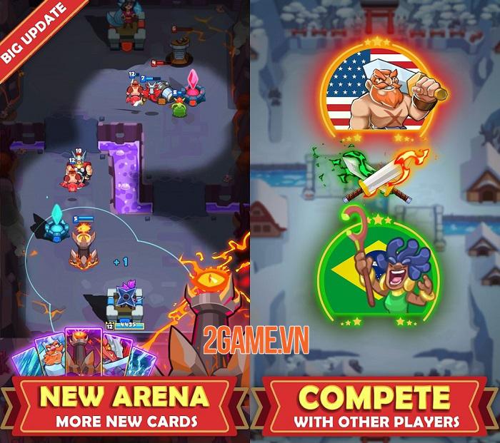 Hero of Empire: Clash Kingdoms - Game thẻ bài RTS chiến đấu 1vs1 1