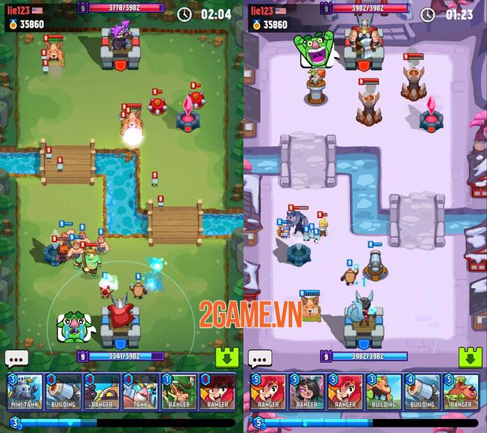Hero of Empire: Clash Kingdoms - Game thẻ bài RTS chiến đấu 1vs1 2