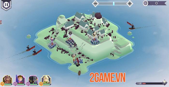Lords Hooray: Island Rush - Game roguelite chiến thuật thời gian thực đồ họa tươi sáng 5